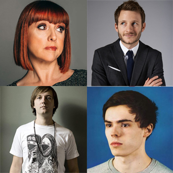 Clockwise from top left: Cally Beaton, Chris Martin, Rhys James and Andrew Maxwell